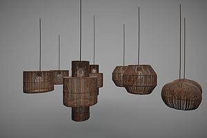 新中式风格吊灯模型模型
