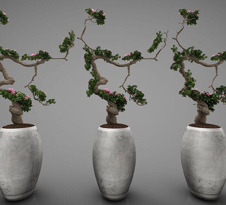 新中式风格植物摆件