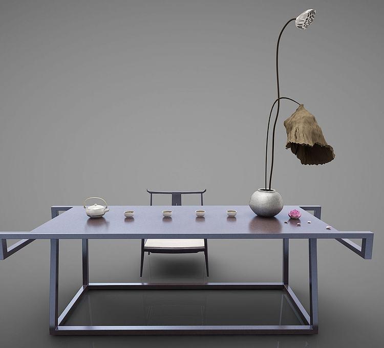 新中式风格书桌