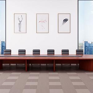 現代會議桌3d模型