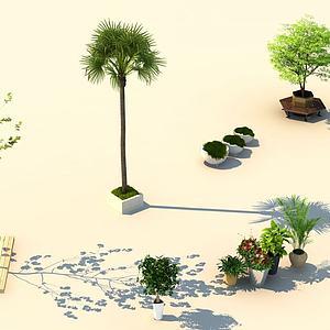 街景植物模型3d模型