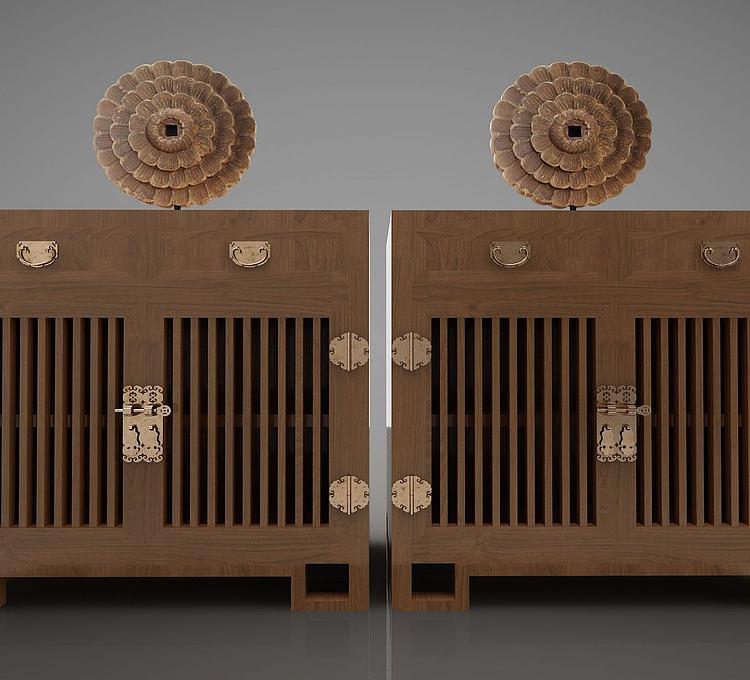 新中式风格装饰柜