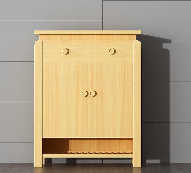 简约实木边柜