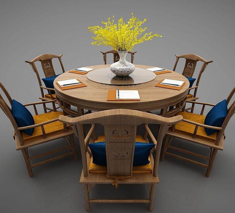 新中式风格餐桌椅