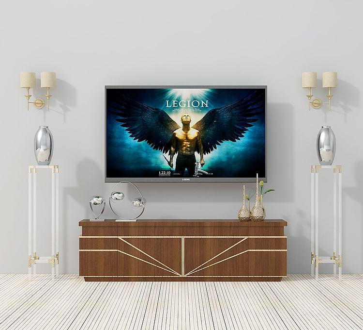 现代简欧电视柜组合