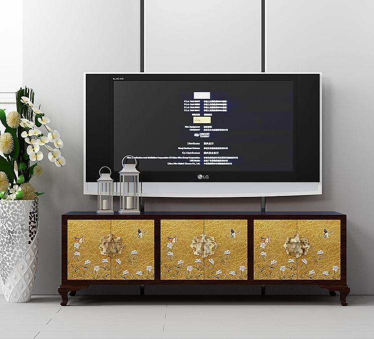 现代原木电视柜组合