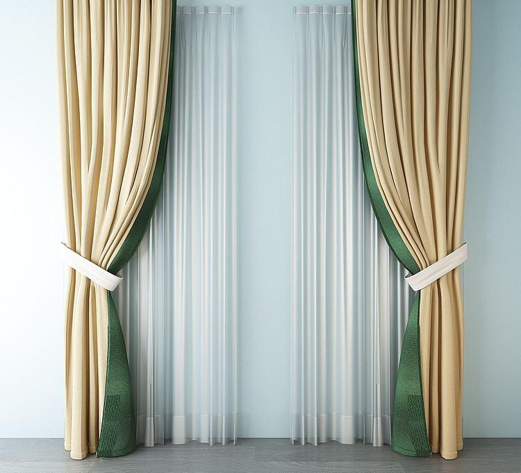 欧式丝绸窗帘