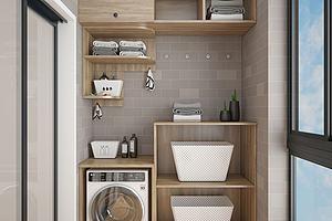 现代洗衣房模型模型