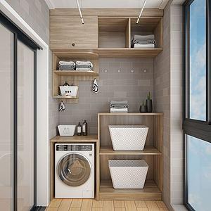 现代洗衣房3d模型