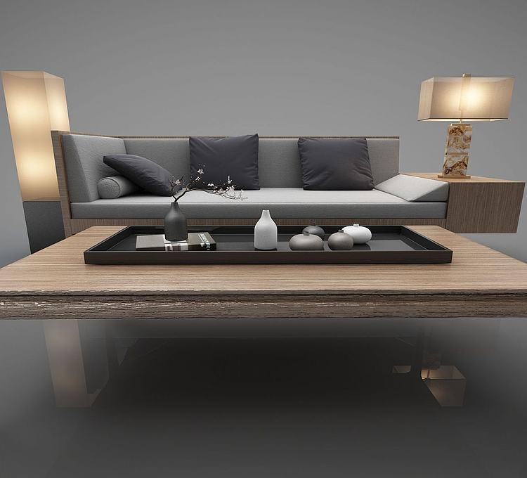 新中式风格沙发茶几