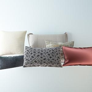 现代抱枕组合模型3d模型
