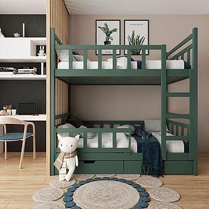 3d北欧儿童房模型