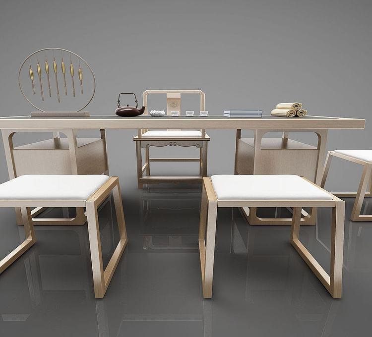 新中式茶桌书桌