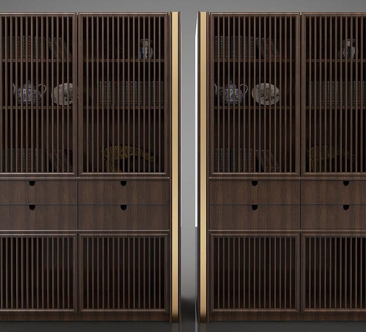 新中式书架橱柜