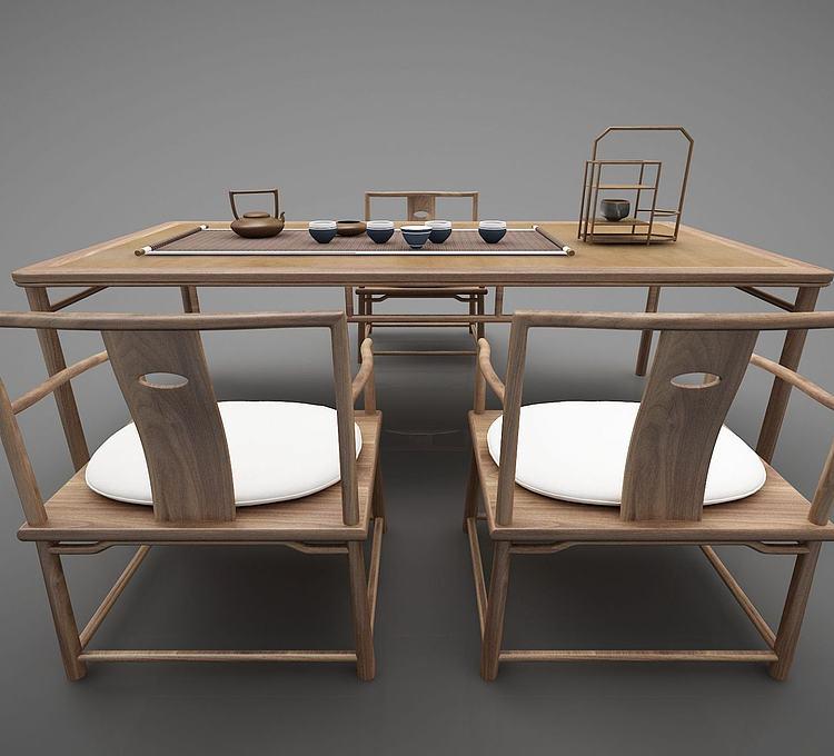 新中式书桌茶桌