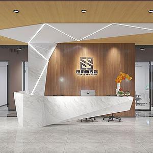 办公楼公司前台3d模型