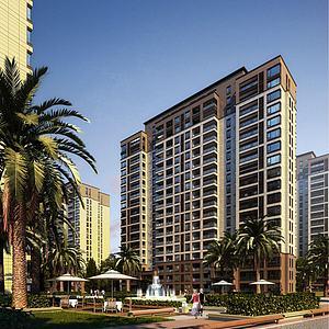 欧式住宅公寓模型3d模型