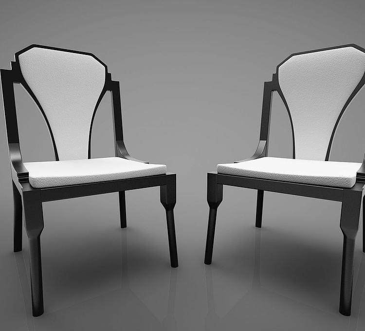 新中式风格餐椅