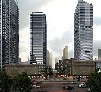 现代办公商业街