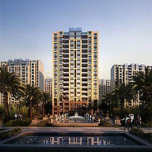 现代高层住宅模型3d模型
