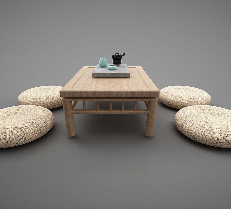 新中式茶几坐垫榻榻米