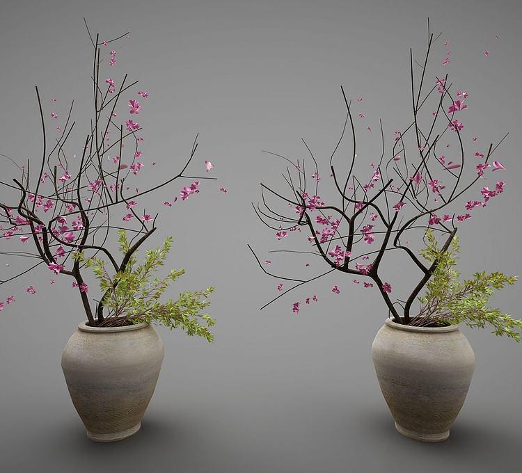 新中式花装饰摆件