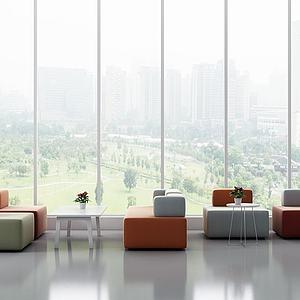 現代休閑沙發茶幾3d模型