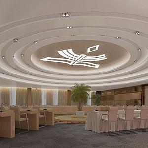 公司大型会议室3d模型