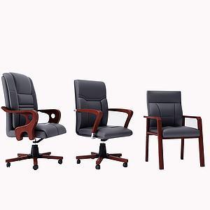 現代經典辦公椅3d模型