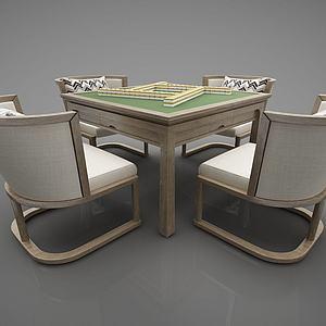新中式麻将桌娱乐桌模型3d模型
