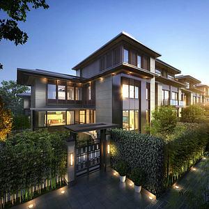 現代別墅豪宅模型3d模型