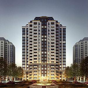 新古典酒店公寓3d模型