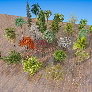 現代室外樹木綠植3d模型