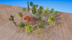 現代室外樹木綠植模型3d模型