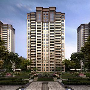 新中式住宅樓3d模型