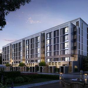 現代住宅樓3d模型