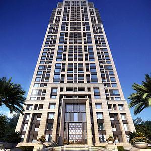 新古典住宅高层模型3d模型