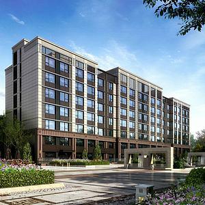 新古典酒店3d模型