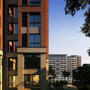 中式住宅楼模型3d模型
