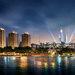 城市規劃城市地標模型3d模型