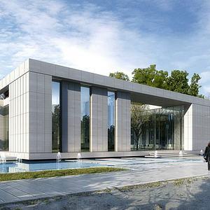 现代办公楼展览馆模型3d模型