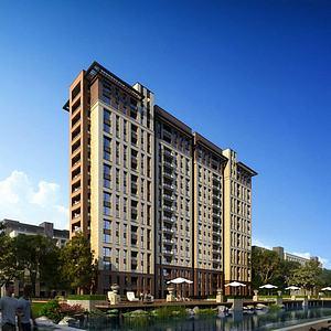 现代住宅公寓模型3d模型