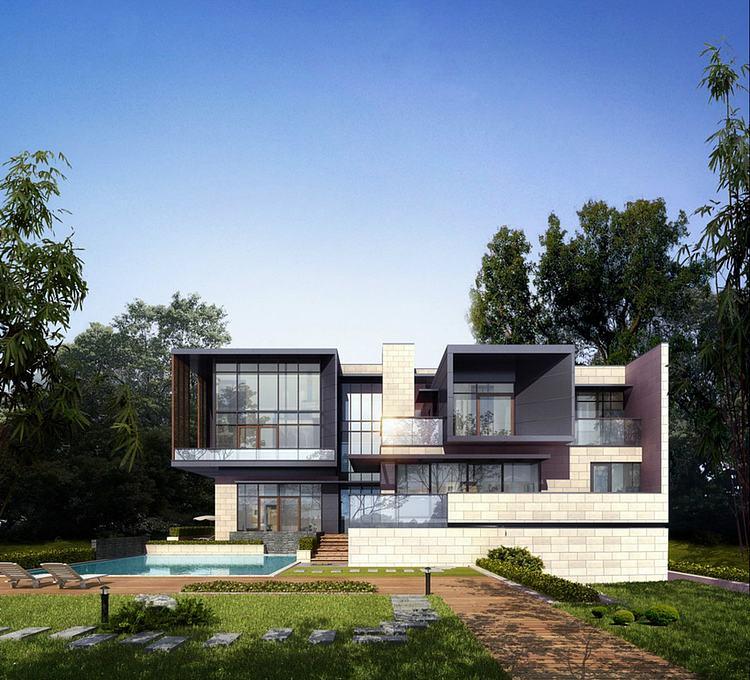 现代别墅豪宅模型