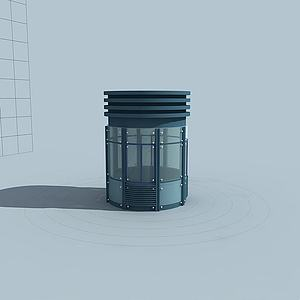 門衛保安亭模型3d模型
