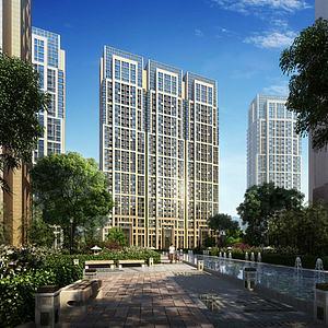现代中式住宅模型3d模型