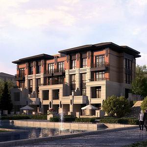 新中式別墅豪宅模型3d模型
