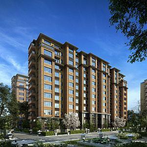 現代住宅洋房3d模型