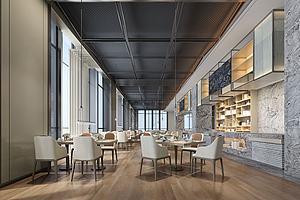 现代新中式酒店餐厅