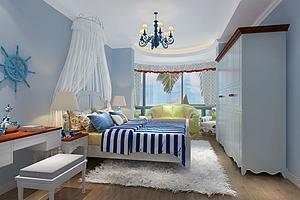 现代地中海儿童房卧室
