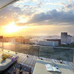 阳台景观模型3d模型